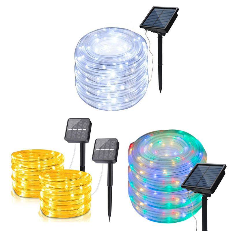 7m 12m 22m LED Solar Garden Lights Rope String Lights Outdoor Solar Powered Strip Christmas Fairy Light Party Decoration Lamp