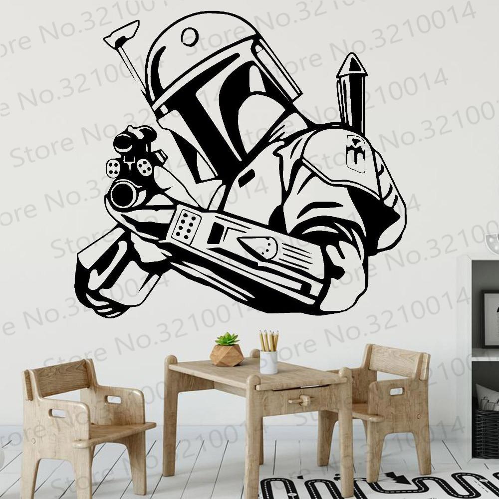 Star wars decalque da parede moderno filme personagem vinil quarto adolescente interior adesivos de parede à prova dwaterproof água decoração para casa sala pw807