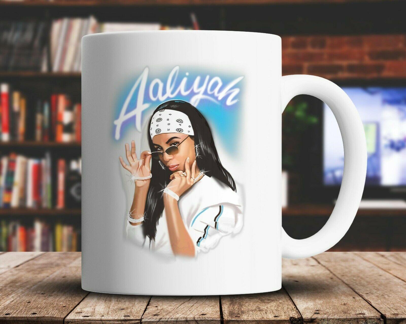 Aaliyah مغني الموسيقى عاشق مضحك السيراميك القدح الشوكولاته الشاي فنجان القهوة