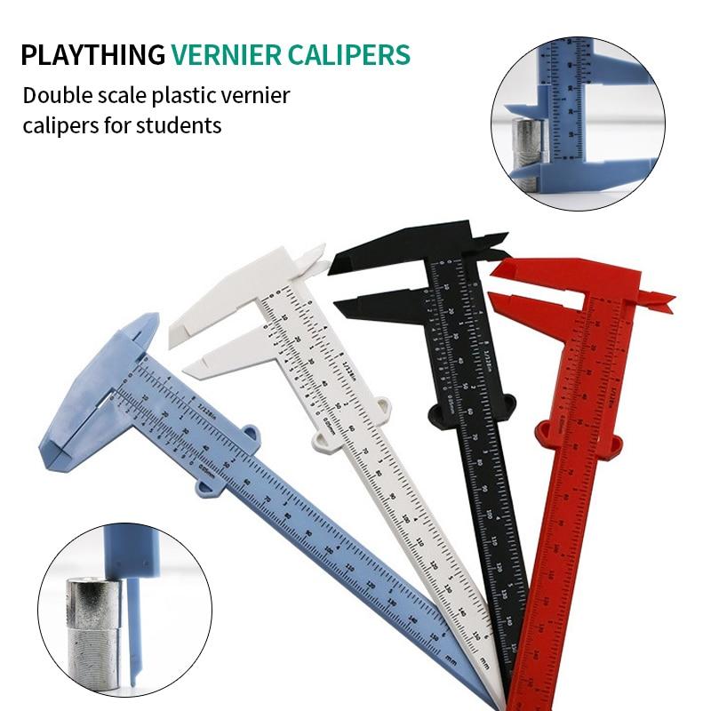 Double Scale Plastic Vernier Caliper Ruler Measuring Student Calipers Size Measuring Tool 1Pcs