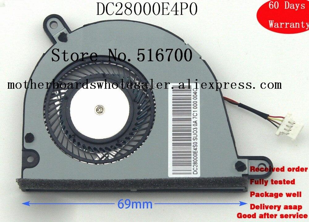 Para Lenovo IdeaPad Yoga 2 13 EG50040S1-C450-S99 DC28000E4S0 DC28000E4P0 ventilador de refrigeración CPU probado