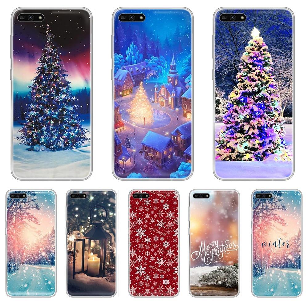 LandscapeWinter Light Snow fashion Etui Transparent Phone Case For HUAWEI honor mate 7A 8S 8X  9 9X 10 20  30 pro  pro  lite