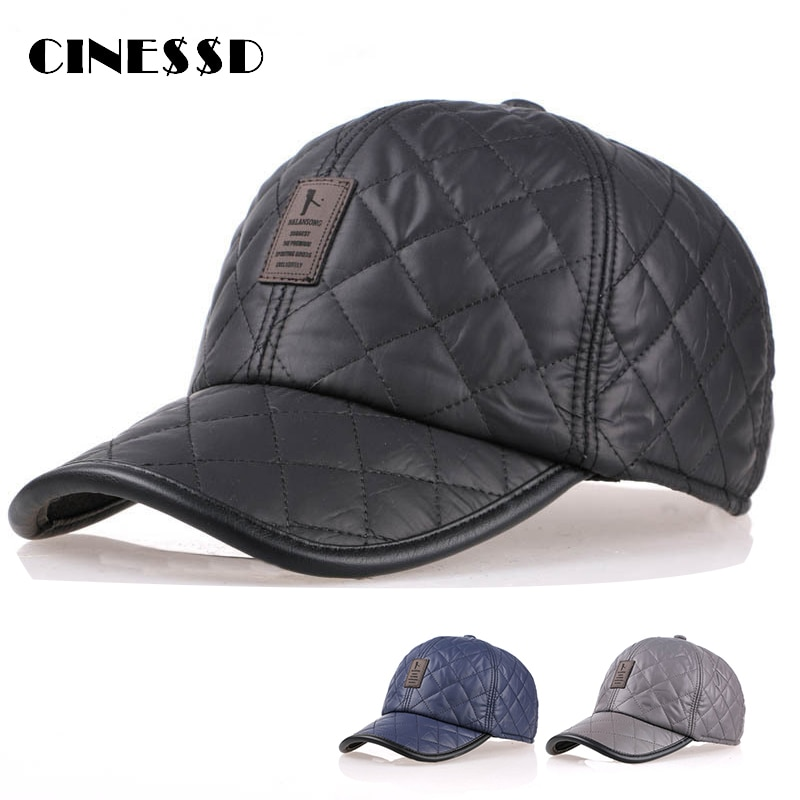 aorice new winter cotton cap genuine leather baseball cap hat men s real leather adult adjustable solid hats caps 3 colors hl132 2020 New Autumn Winter Leather Baseball Cap Men Snapback Hat Bone PU Leather Adjustable Trucker Cap Gorras Casquette
