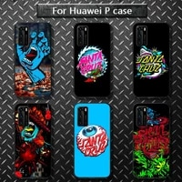 santa cruz skateboard brand phone case for huawei p40 pro lite p8 p9 p10 p20 p30 psmart 2019 2017 2018