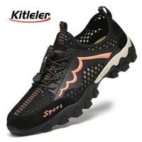 summer outdoor sneakers men non slip trail hiking shoes breathable wear resistant trekking sneakers big size sport tennis shoes