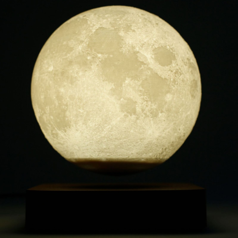 LED Night Lamp Levitating Creative 3D Touch Magnetic Levitation Moon Lamp Night Light Rotating Floating Desk Table Lamp Gift enlarge