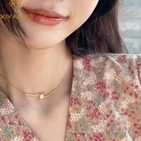 xiyanike 925 sterling silver chopsticks pearl pendant necklace female simple light luxury unique design creative classic gift