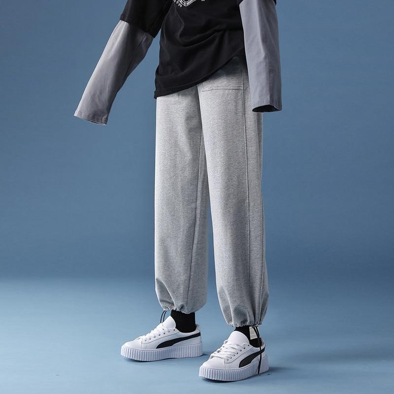Женские брюки, джоггеры, спортивные брюки, спортивный костюм, широкие штаны, высокие спортивные женские шаровары в Корейском стиле, уличная ...