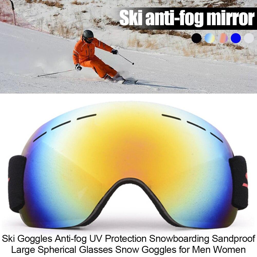 Лыжные очки Анти-туман УФ-защита сноуборд устойчивые к песку большие сферические очки для снега очки для мужчин женщин мужчин