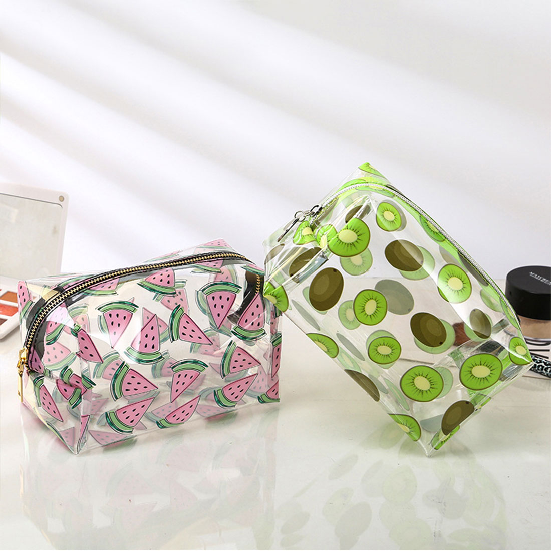 Bolsa Hipster de gelatina, Mini suministro, bolsa de cosméticos fresca, barata, Dropshipping, bolsa de maquillaje de fruta, nueva bolsa de almacenamiento transparente creativa para lavado