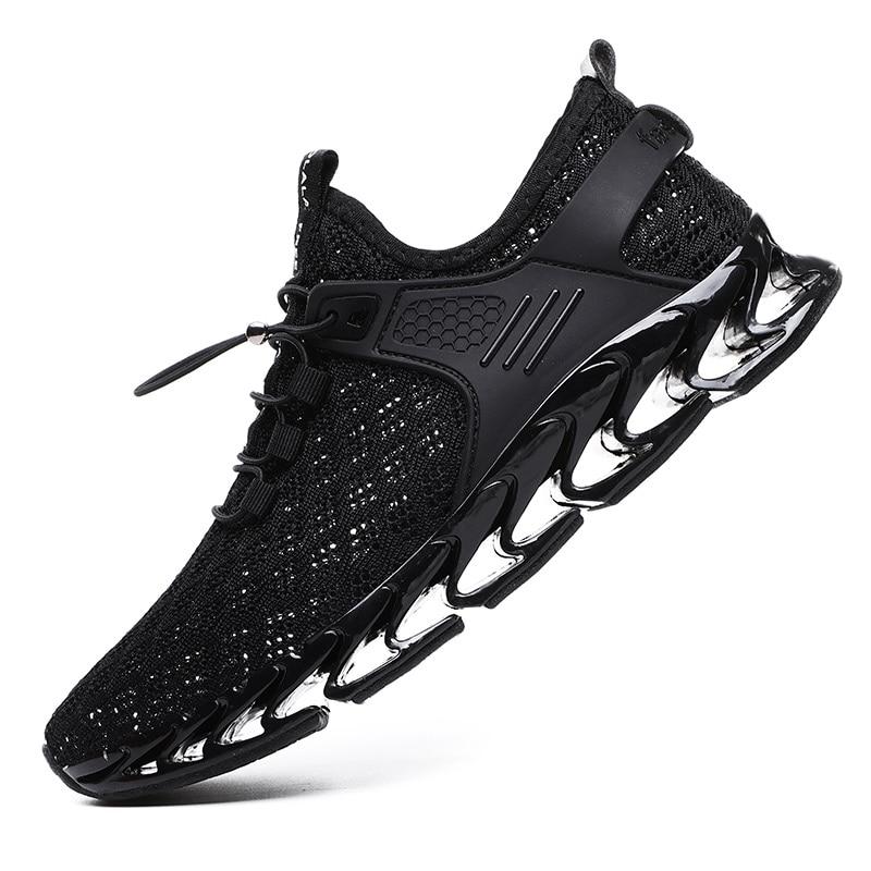 Zapatillas para correr de malla para hombres, Zapatillas para correr libremente, amortiguación de cuchilla para hombres, Zapatillas, calzado para deportes al aire libre, calzado para trotar, Zapatillas
