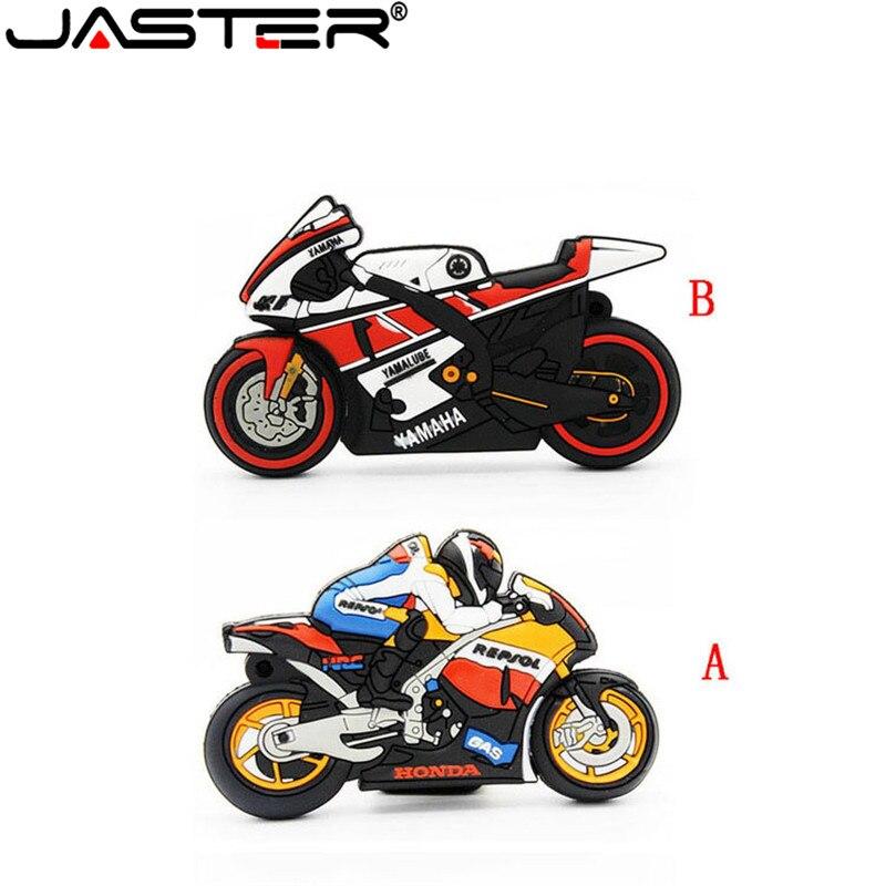JASTER moto rcycle U disco pen drive llavero regalo pluma drive 8gb 16gb 32gb 64gb moto coche de dibujos animados usb flash drive autobike pendrive