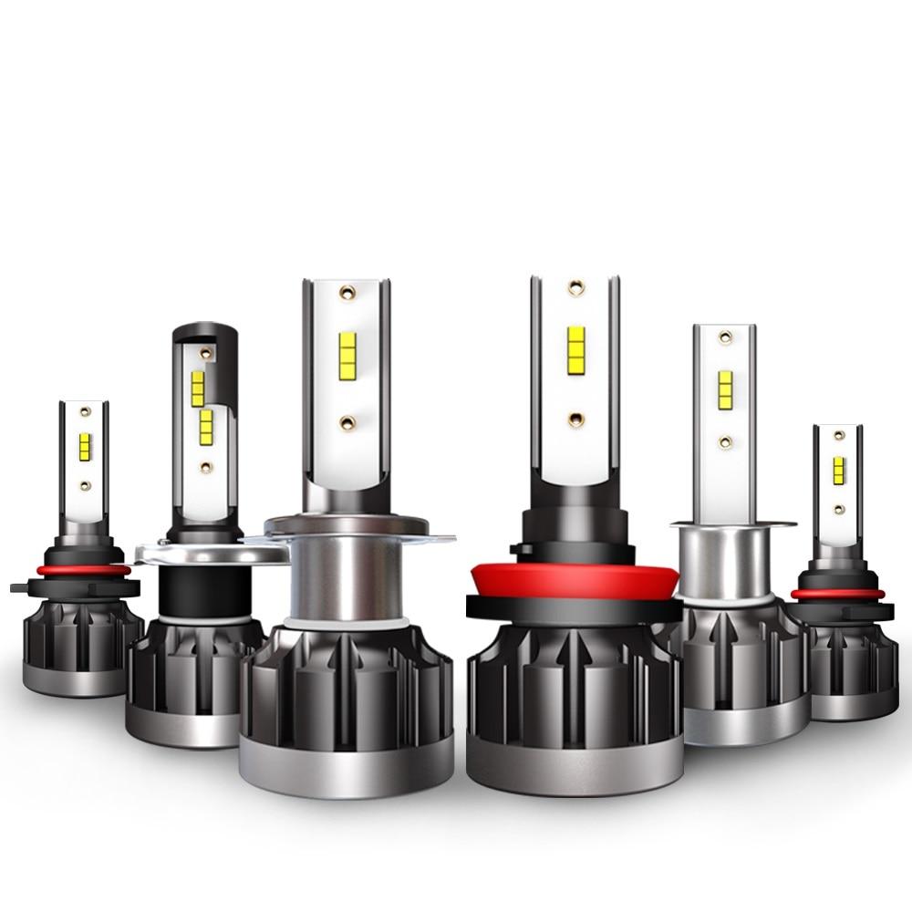 2pcs H4 LED H7 H11 H8 HB4 H1 9005 HB3 9006 HB4 Auto Car Headlight Bulbs 40W 4000LM Car Styling 6000K led automotivo car lights