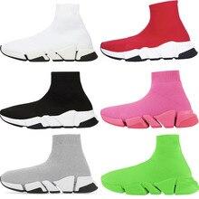 Men shoes new Paris fashion luxury brand high-top stretch socks shoes men couple women 35-46 running