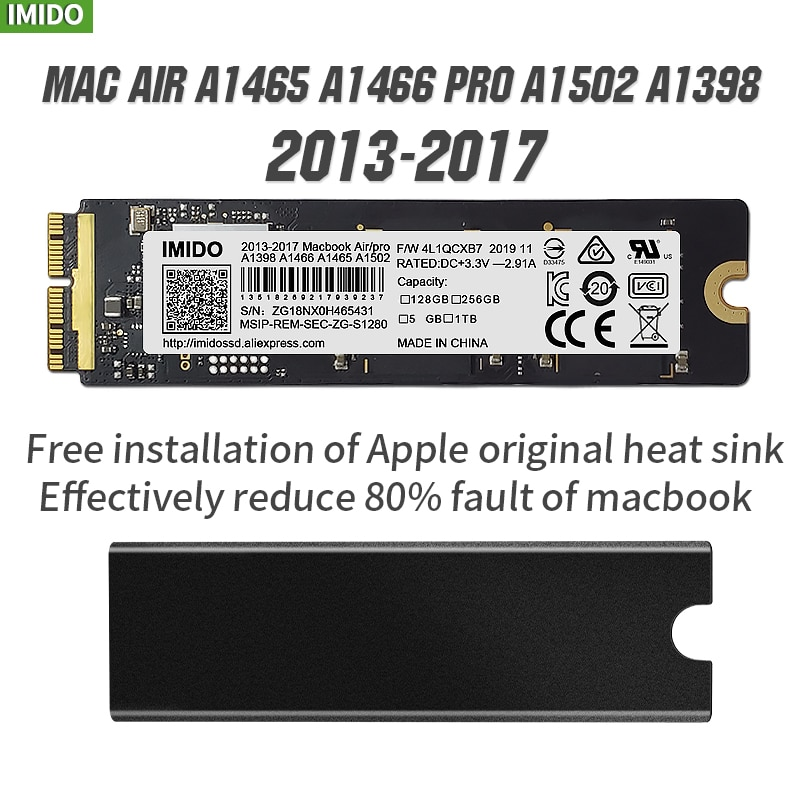 256gb 512gb SSD For 2014 2015 2017 Macbook Air A1465 A1466 SSD Pro Retina A1502 A1398 1TB SSD 512G HARD DISK Solid State Drive