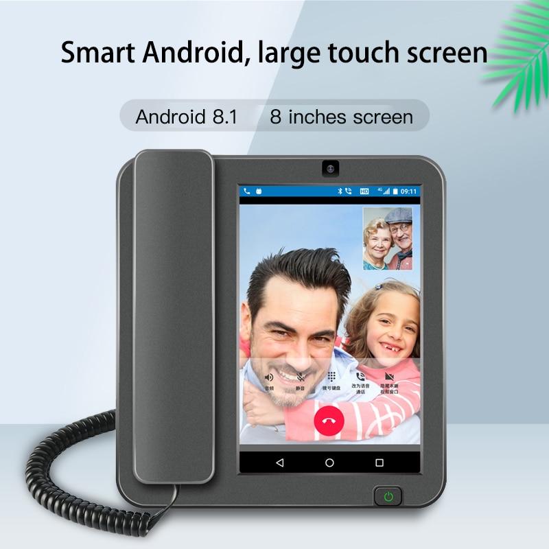 Promo Smart Android 8.1 PSTN/4G/LAN 2G+16G Wireless Phone with RJ11/RJ45 Videophone Glob Universal Elderly WIFI Mobile Phone
