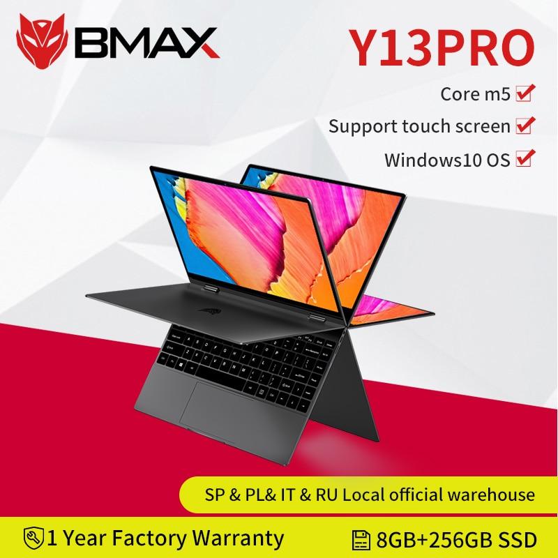 BMAX Y13 Pro Intel Core m5-6Y54 360° Laptop 13.3 inch NotebookWindows 10 8GB RAM 256GB SSD 1920*1080 IPS touch screen laptops