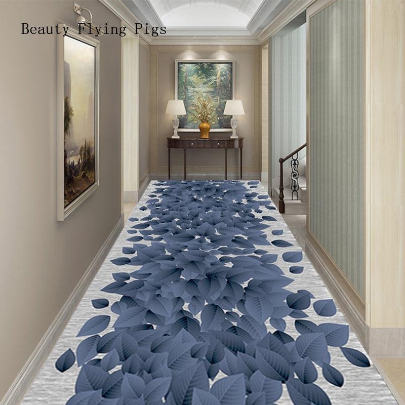 Alfombra tridimensional creativa para flores, puerta, entrada, pasillo, pasillo, escaleras, casa, hotel, alfombra para banquete