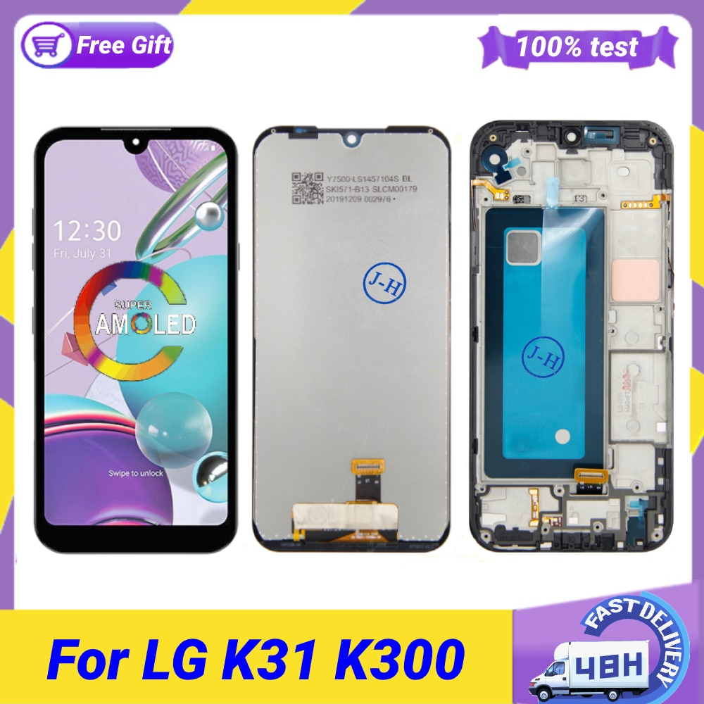 Original 5.7 For LG K31 Aristo 5 LCD Display Touch Screen Digitizer Panel Assembly Replacement Parts K300 K8x