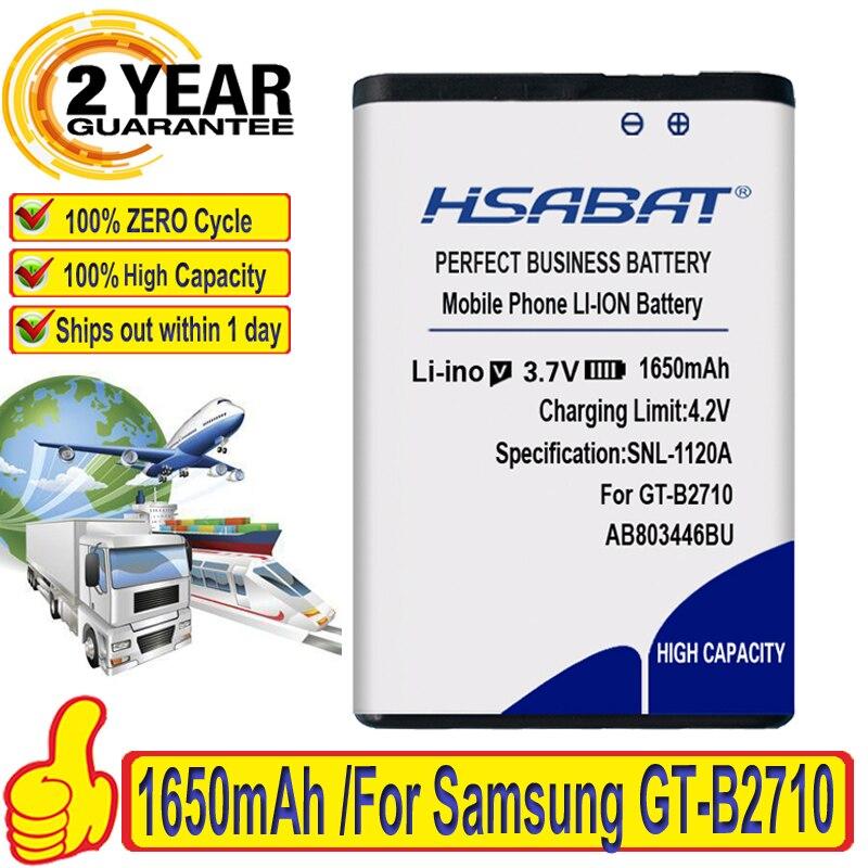 100% original hsabat 1650mah ab803446bu ab803446ba para samsung GT-B2710 xcover bateria
