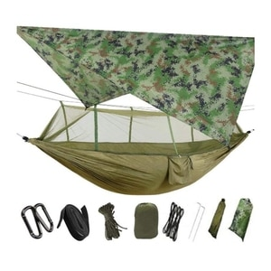 Portable Camping Hammock Mosquito Net with Umbrella Tent Shade Cloth for Outdoor Wind and Fog,Swing Sleep Hammock