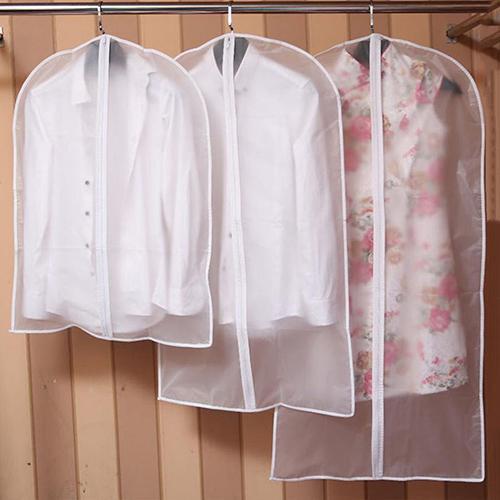 Vestido cubre ropa protección para abrigo bolsa de almacenamiento de plástico a prueba de polvo