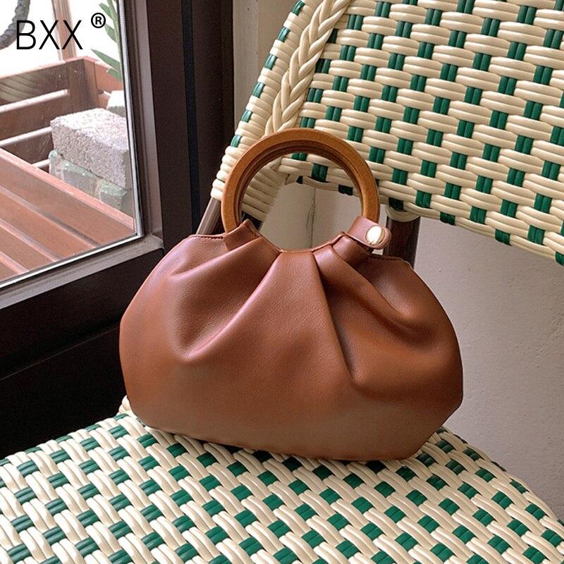 [BXX] Luxury Brand Handbags 2021 Spring Women's New Fashion PU Leather Shoulder Crossbody Bags Brand Designer Bucket Bag HQ411