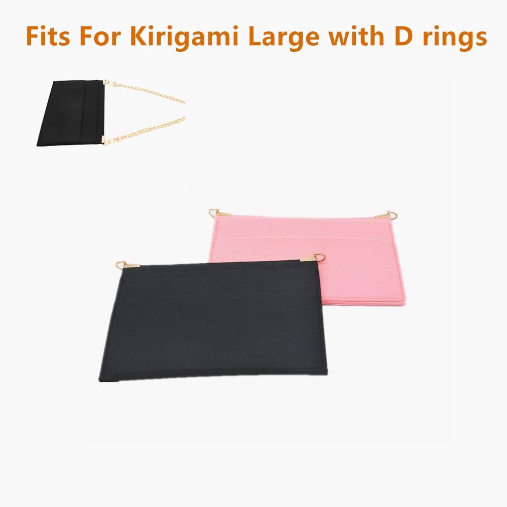 Kirigami pochette Insert  with D Rings luxury bag Kirigami Organizer with Chain Crossbody Women Handbag Message Bag