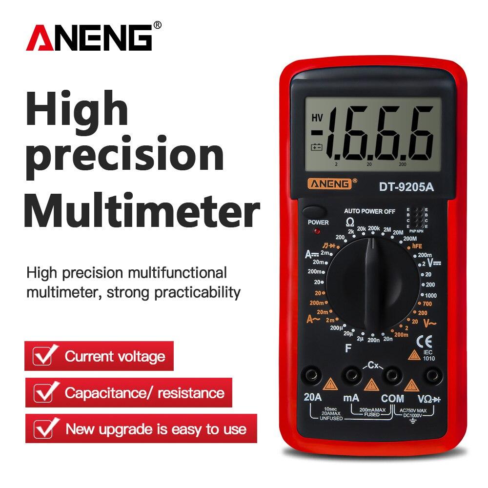 Multímetro Digital/probador de CC, medidor de prueba Profesional de NCV, rango automático...