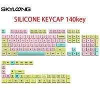 140 key rubber keycaps gk2 profile for mx switch gk61 gk64 68 84 87 96 108 keyboard dye sublimation key cap