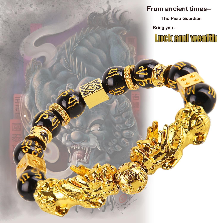 aliexpress.com - Pixiu Guardian Bracelet Bring Luck Wealth Beads Strand Bracelets Chinese Fengshui Wristband Unisex Lucky Wealthy Men Women