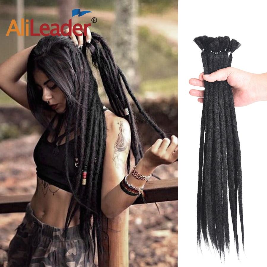Alileader 20Inch Handgemaakte Dreadlocks Gehaakte Vlecht Hair Extensions Voor Vrouwen/Mannen Roze Blauw Ombre Synthetische Haak Hair 1 wortel