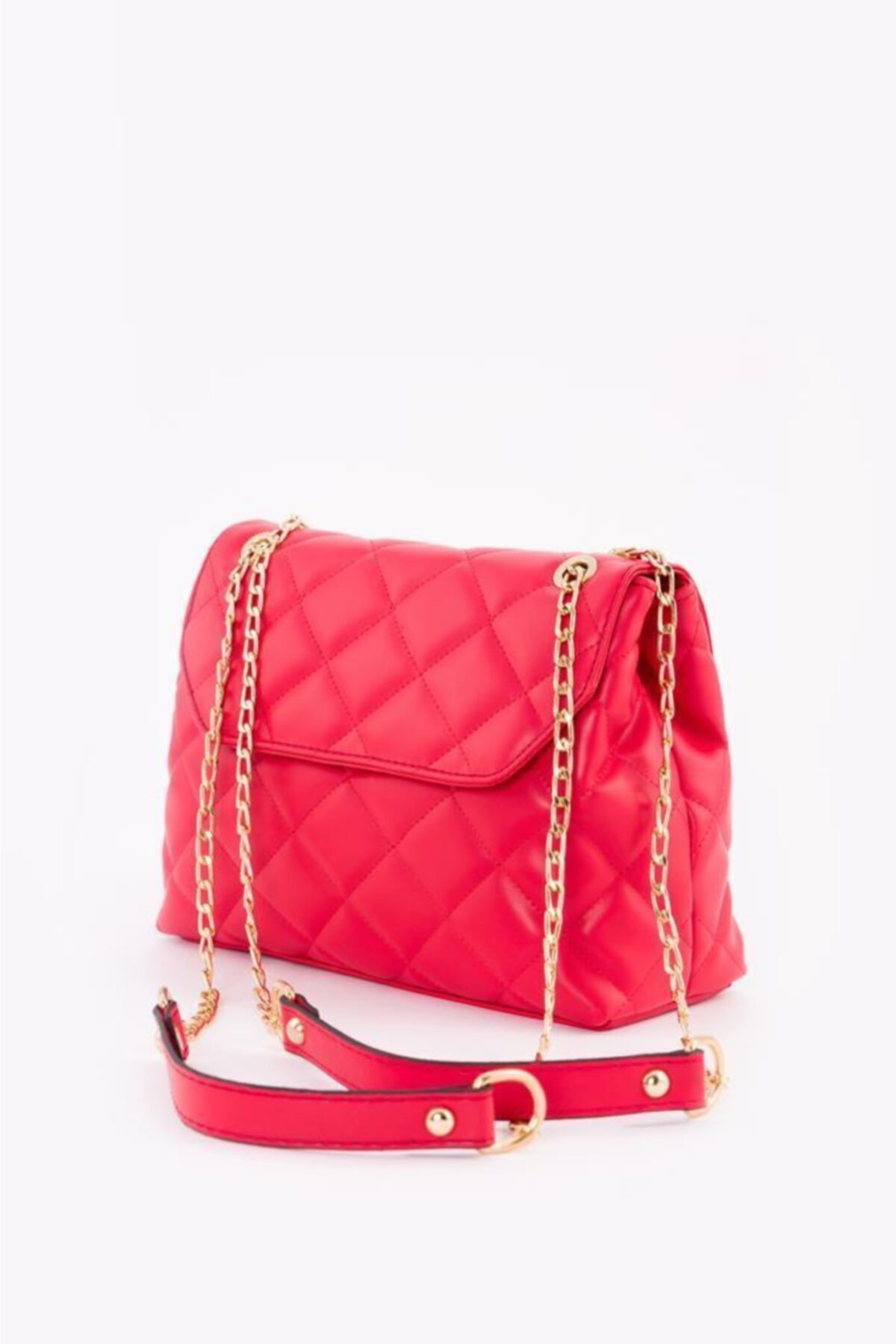 Red Quilted Women's Shoulder Bag 2021 Fashion Trend Shoulder Strap Waterproof Velvet Leather Casual Women's Shoulder Bag