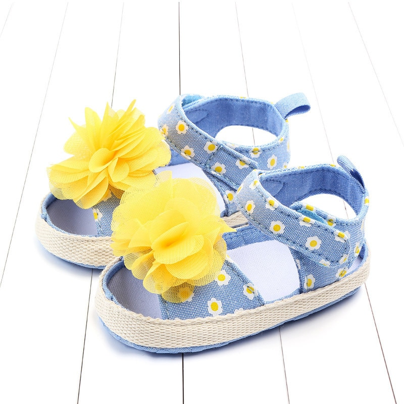 Baby Girl Sandals Summer Baby Girl Shoes Cotton Flower Baby Girl Sandals Newborn Baby Shoes Beach Sandals Nonslip Princ shoes