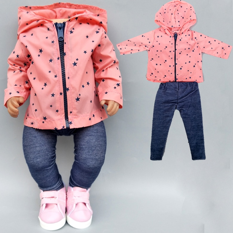 43cm New Born Baby Doll Sun Protection Clothes for Baby Doll Clothes 18 Inch American OG Girl Doll J