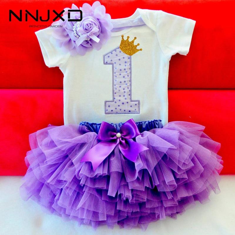 Летнее платье для маленьких девочек Милая Одежда для новорожденных девочек Боди для малышей на 1 день рождения, комбинезон + юбка-пачка с оборками + повязка на голову