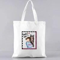 shopping bag reusable bags with handle handbag large bags for women handbags shopper with print womens beach bag shoppers