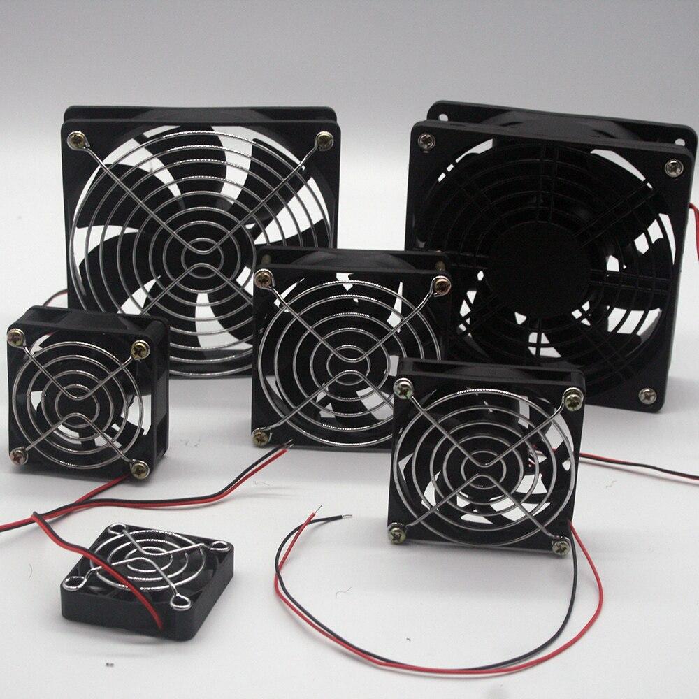 Kühler drucker fan 5010 7015 8025 12025 50mm 70mm 80mm 120mm 2-draht magnetische lager lüfter mit mesh abdeckung