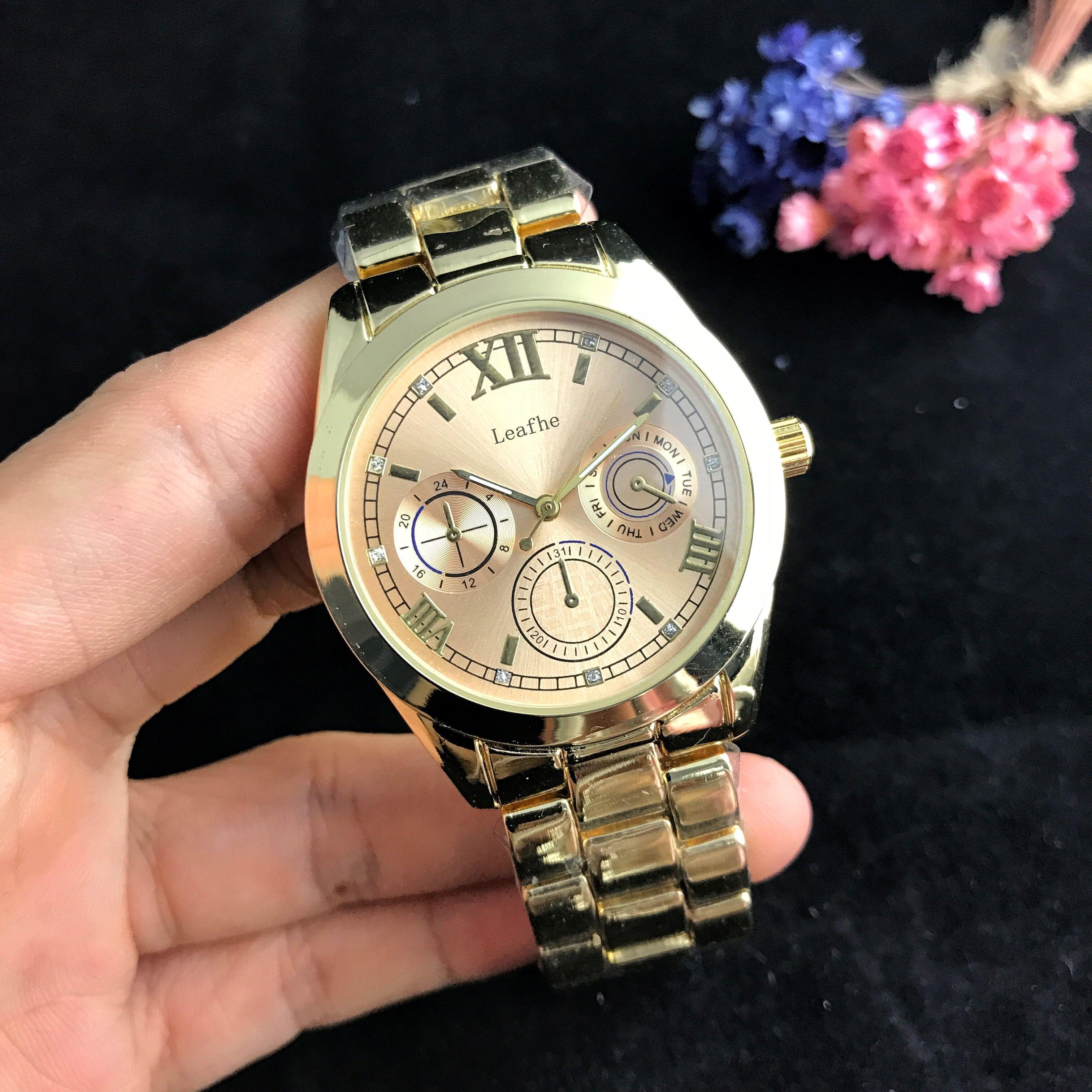 Marca de Moda Relógios Femininos Ouro Prata Borboleta Fivela Pulseira Aço Inoxidável Relógio Quartzo Montre Femme
