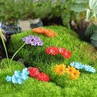 10pcs miniature moss flower dollhouse bonsai pot craft fairy garden decor