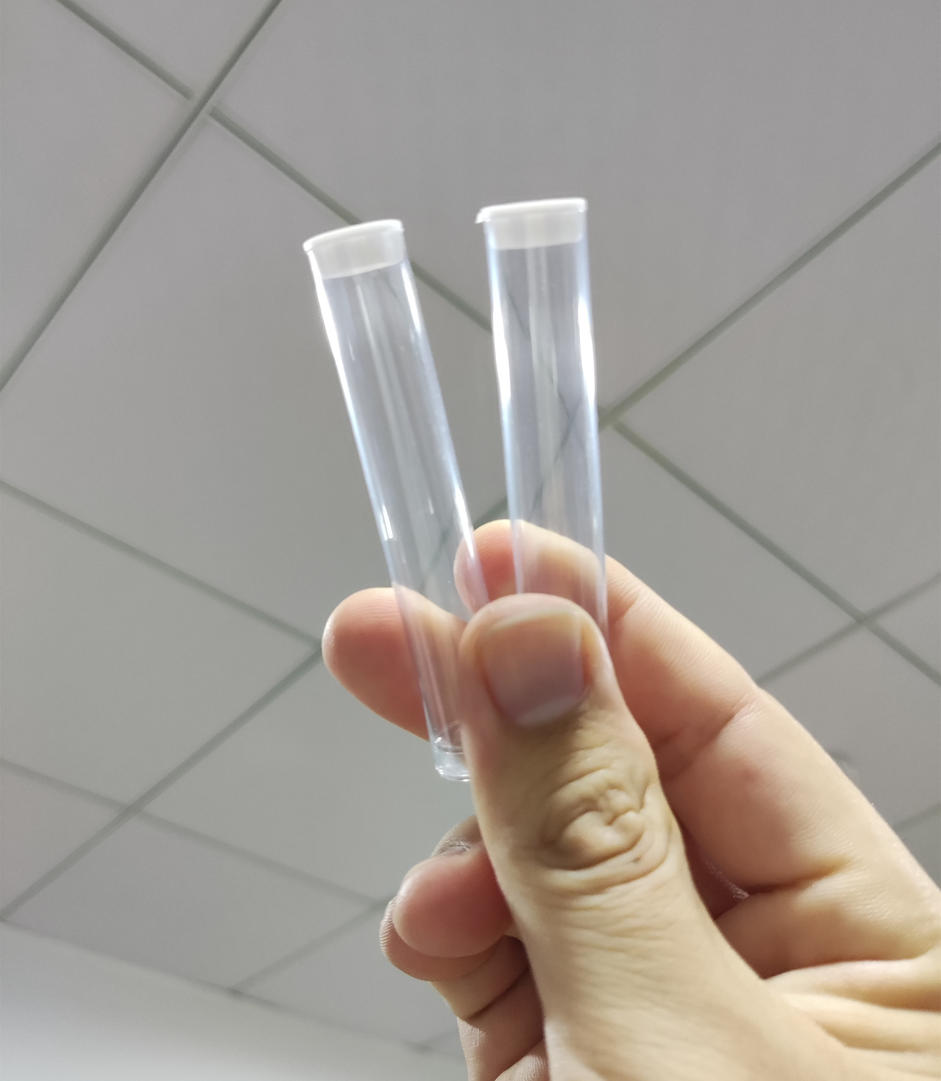 100pcs Plastic Tubes Vape Cartridge Package  1.0ml Clear Tube Container For cc-ell CBD Thick Oil Cartridge Tank PVC Packaging enlarge