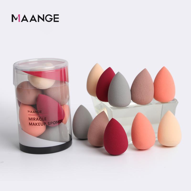 10 Teile/satz Professionelle Kosmetische Pulver Puff Glatte Frauen Make-Up Foundation Sponge Puff Schönheit Zu Machen Up Werkzeuge & Zubehör
