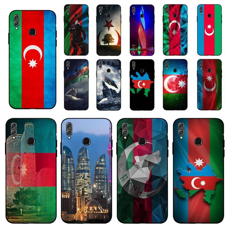 MaiYaCa Azerbaiyán buta bandera negro Funda de teléfono de TPU blanda para Huawei Honor 8 8x9 10 10 10 10lite 20lite 20 7A 9 9lite