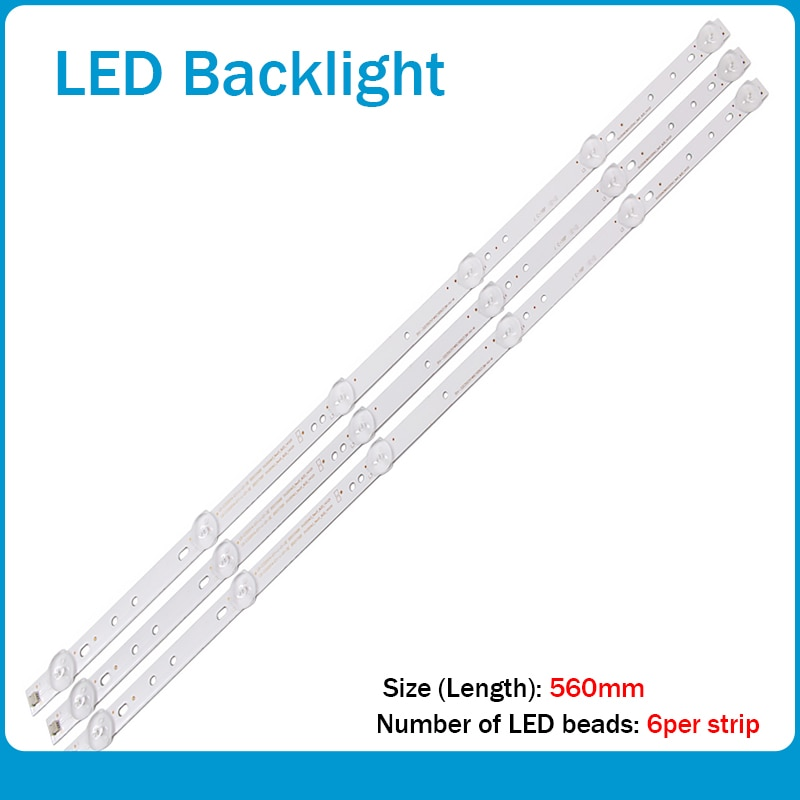 led backlight 1set=3pcs For32inhc Hisense LB-C320X14-E12-H-G1-SE3 SVJ320AG2 SVJ320AK3 SVJ320AG2-REV2-6LED-130307 1pcs=6led 56cm