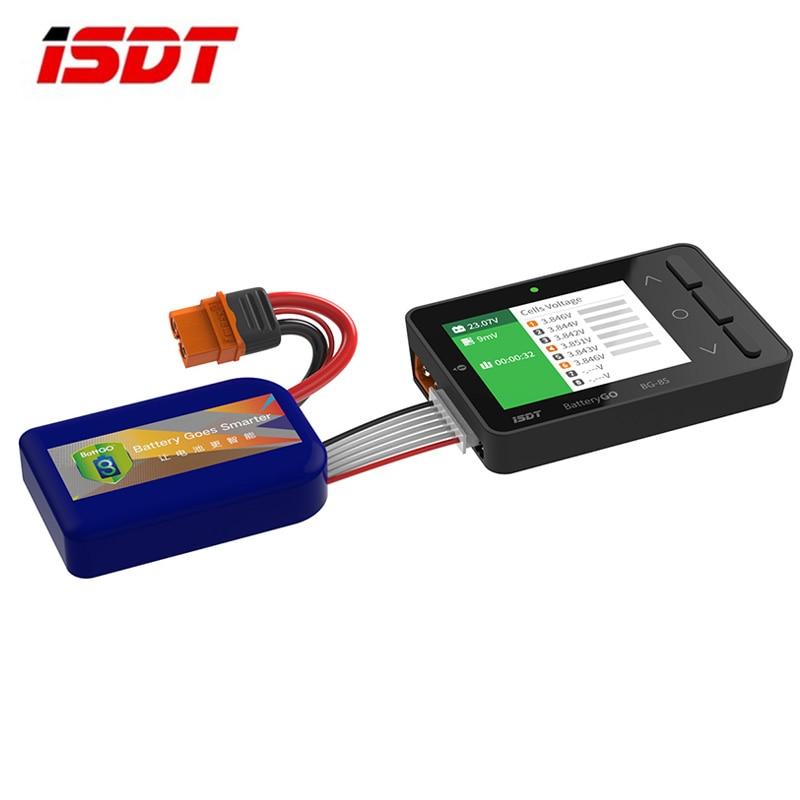 ISDT BattGo BG-8S Battery Meter, LCD Display Digital Battery Capacity Checker Battery Balancer Battery Tester for LiPo/Life/Li-i enlarge