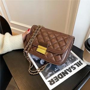 Lattice Square Crossbody bag 2020 New High quality PU Leather Women's Designer Handbag Vintage Chain Shoulder Messenger Bag