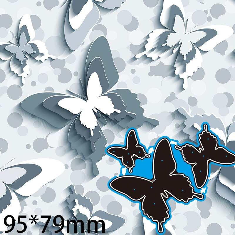 Cutting Dies  Butterfly Greeting Card Decorate DIY Scrap Booking Photo Album Embossing Paper Cards 95*79mm