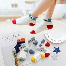 5 Paris/Lot Children's Socks for Boys Girls Ankle Socks Fashion Number Star Cartoon Baby Mesh Socks
