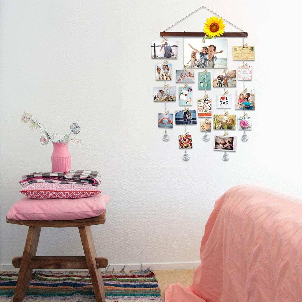 Gran oferta de marco de fotos DIY para el hogar, marco de fotos Collage, almacenamiento de fotos, estante decorativo, soporte para fotos, Collage de fotos