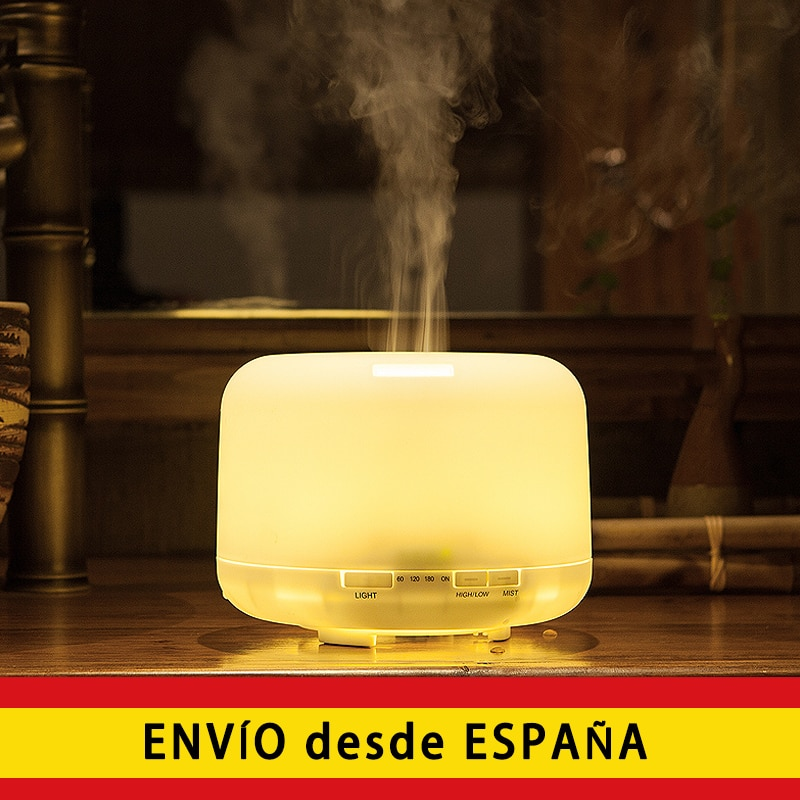 AliExpress - 500ml Humidifier Essential Oil Diffuser Ultrasonic Humidifier, air humidifier with Night Light 7 Colors